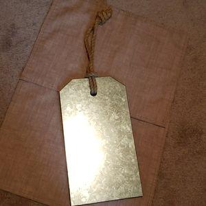Rustic hanging magnetic board